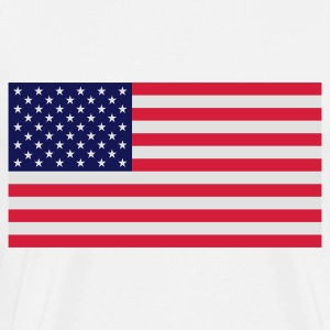 National flag of USA Tops - Men's Premium T-Shirt