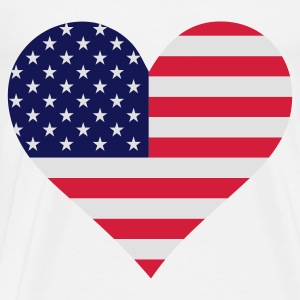 A heart for America Tops - Men's Premium T-Shirt