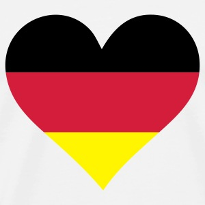 A Heart for Germany Tops - Men's Premium T-Shirt