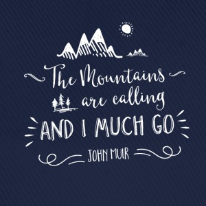 Navy mountain quote Magliette - Cappello con visiera