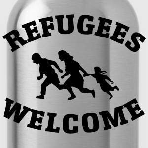 Refugees Welcome T-Shirts - Water Bottle