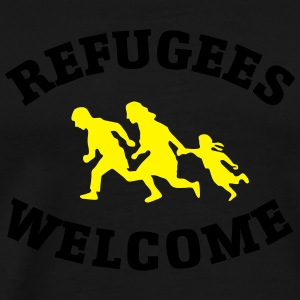 Refugees Welcome Pullover & Hoodies - Männer Premium T-Shirt