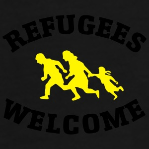 Refugees Welcome Caps & Hats - Men's Premium T-Shirt