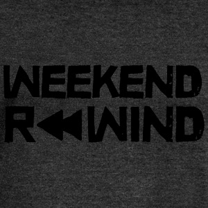 Weekend Rewind T-Shirts - Women's Boat Neck Long Sleeve Top