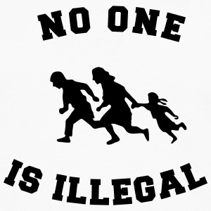 no one is illegal T-Shirts - Men's Premium Longsleeve Shirt