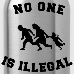 no one is illegal T-Shirts - Water Bottle