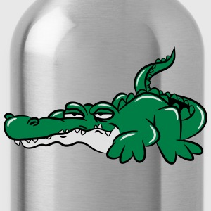 Crocodile funny weed joint T-Shirts - Water Bottle