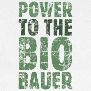 Power to the Biobauer T-Shirt (Herren/Weiß) - Baseballkappe
