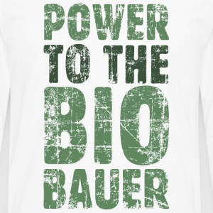Power to the Biobauer T-Shirt (Herren/Weiß) - Männer Premium Langarmshirt