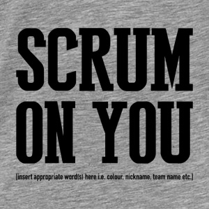 Rugby Scrum On - Hoodie - Men's Premium T-Shirt