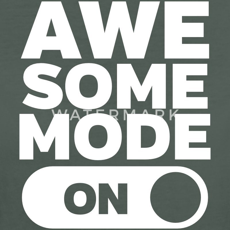 Awesome Mode (On) T-shirts - Ekologisk T-shirt dam