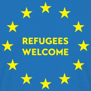 Refugees welcome in EU Tops - Männer T-Shirt