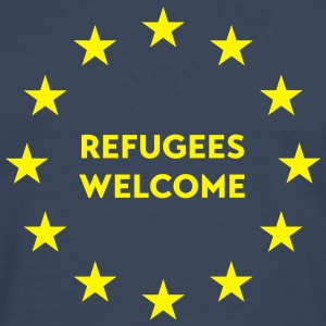 Refugees welcome in EU Tops - Männer Premium Langarmshirt