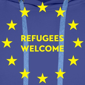 Refugees welcome in EU Tops - Männer Premium Hoodie