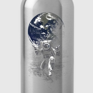 Black Spaceman T-Shirts - Water Bottle