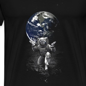 Black Spaceman Mugs & Drinkware - Men's Premium T-Shirt