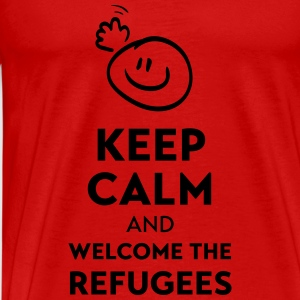 Keep calm and welcome the Refugees Tops - Men's Premium T-Shirt