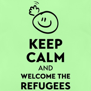 Keep calm and welcome the Refugees Bluzy - Koszulka niemowlęca