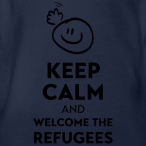 Keep calm and welcome the Refugees Manches longues - Body bébé bio manches courtes