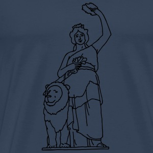 Bavaria statue in Munich Tops - Men's Premium T-Shirt