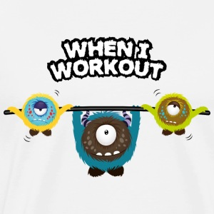 When I workout Monster Manches longues - T-shirt Premium Homme