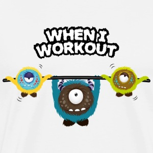 When I workout Monster Toppe - Herre premium T-shirt