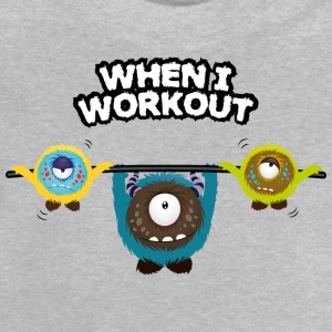 When I workout Monster Manches longues - T-shirt Bébé
