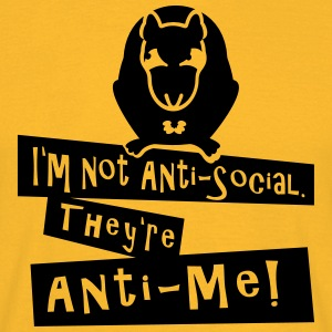 I'm not Anti-Social (rat, rotte, 1c) Toppe - Herre-T-shirt