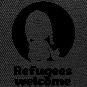 Refugees welcome T-Shirts - Snapback Cap