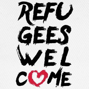 Refugees welcome + heart T-Shirts - Baseball Cap