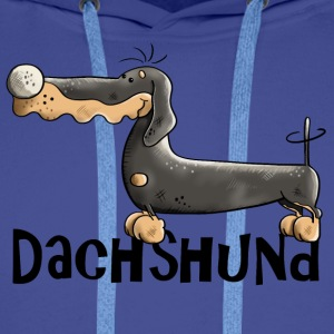 Desideria the Dachshund Mugs & Drinkware - Men's Premium Hoodie