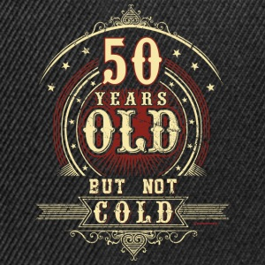 Geburtstag 50 old but not cold RAHMENLOS® T-Shirts - Snapback Cap
