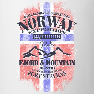 Norway Mountains - Vintage Flag T-Shirts - Mug