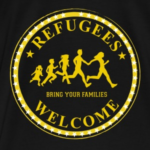 refugees welcome! - Männer Premium T-Shirt