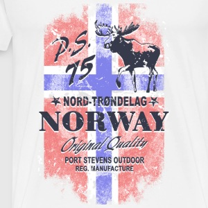 Norway Moose - Vintage Flag Sports wear - Men's Premium T-Shirt