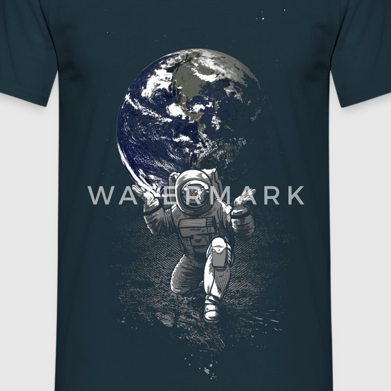 Marineblå Spaceman T-shirts - Herre-T-shirt
