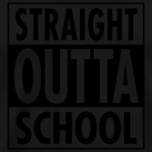 Straight Outta School Manches longues - T-shirt Premium Homme