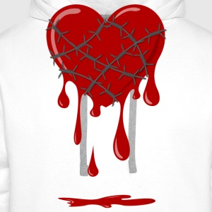 Bleeding Heart Barbed Wire Tee shirts - Sweat-shirt à capuche Premium pour hommes