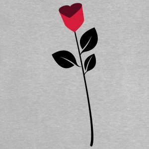 Rose, flower, heart Langarmshirts - Baby T-Shirt
