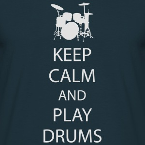 Keep Calm Drummer Pullover & Hoodies - Männer T-Shirt