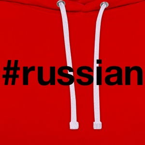 RUSSIA T-Shirts - Contrast Colour Hoodie