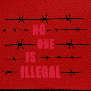 No one is illegal T-Shirts - Snapback Cap