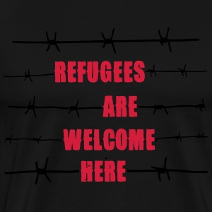Refugees are welcome here Sweatshirts - Herre premium T-shirt