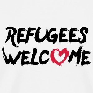 Refugees welcome (with heart) - Männer Premium T-Shirt