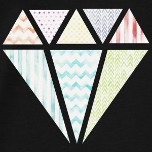 Colorful Diamond Sweaters - Mannen Premium T-shirt