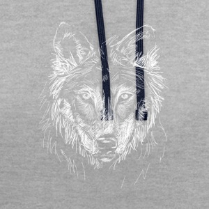 Tee Shirt Loup - Sweat-shirt contraste