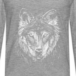 Tee Shirt Loup - T-shirt manches longues Premium Homme