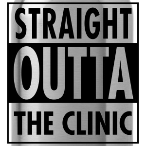 Straight Outta The Clinic Felpe - Borraccia