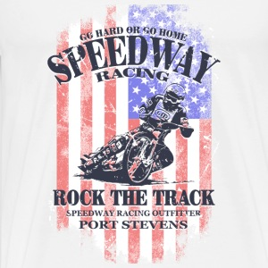 Speedway Racing - USA Vintage Flag Long sleeve shirts - Men's Premium T-Shirt