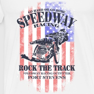 Speedway Racing - USA Vintage Flag Tank Tops - Men's Premium T-Shirt